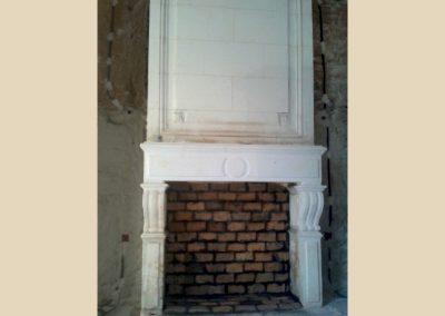 cheminée taille de pierre charente angouleme nouvelle aquitaine