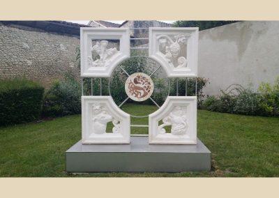 amenagement parc barbezieux sculpture taille de pierre charente nouvelle aquitaine