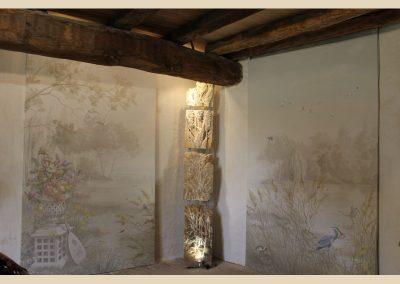 roseaux sculpture toile peinte taille de pierre charente nouvelle aquitaine