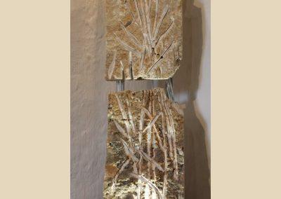 roseaux sculpture taille de pierre charente nouvelle aquitaine