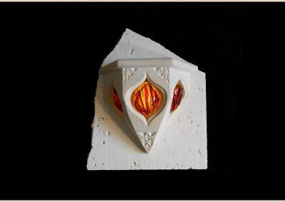 luminaire verre fusing sculpture taille de pierre charente nouvelle aquitaine