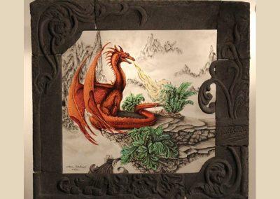 dragon sculpture verre charente nouvelle aquitaine