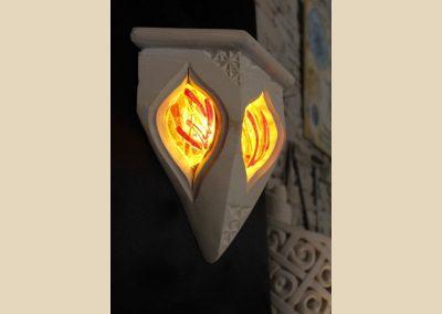 luminaire sculpture verre fusing taille de pierre charente nouvelle aquitaine