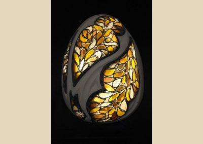 luminaire oeuf sculpture verre taille de pierre charente nouvelle aquitaine