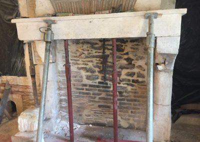 restauration patrimoine cheminee taille de pierre charente